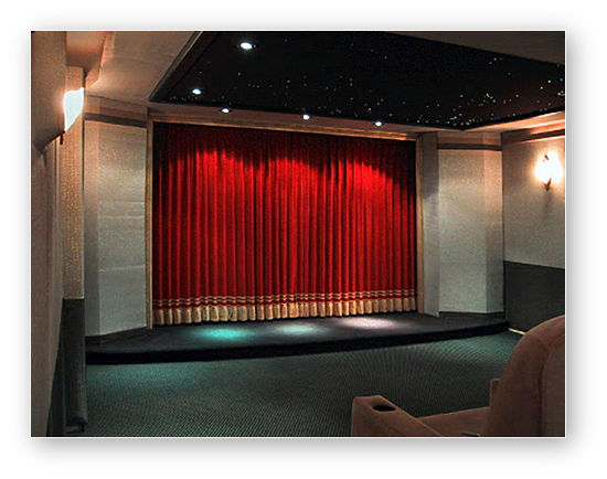 Home Theater Kathie Johnson Draperies And Blinds Omaha Ne